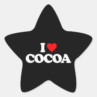 I LOVE COCOA STICKER