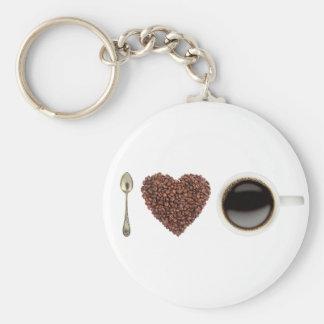 I Love Coffee 01 Key Ring