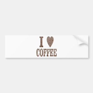 I Love Coffee Bumper Sticker