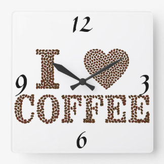 I Love Coffee Clock