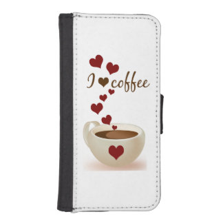 I Love Coffee iPhone SE/5/5s Wallet Case