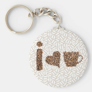 I Love Coffee Key Ring