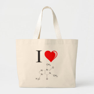 I love coffee large tote bag