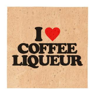 I LOVE COFFEE LIQUEUR DRINK COASTERS