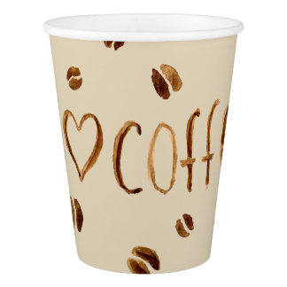 I love coffee paper cup