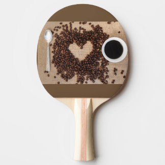 i love coffee ping pong paddle
