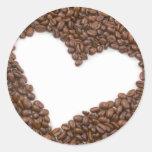 I Love Coffee Round Sticker
