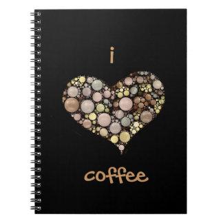 I Love Coffee Spiral Notebook