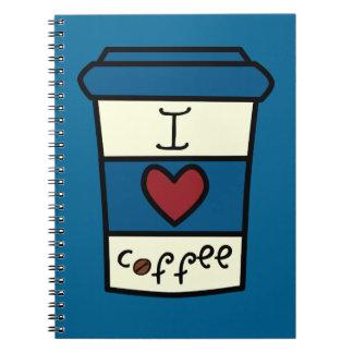 I Love Coffee Spiral Notebooks