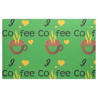 I love coffee super hot and funny fabric