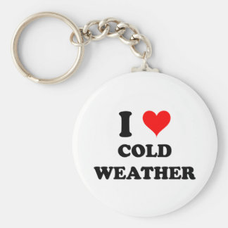 I Love Cold Weather Key Ring