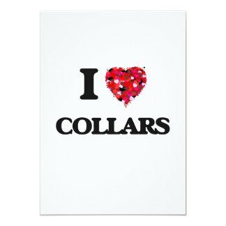 I love Collars 13 Cm X 18 Cm Invitation Card