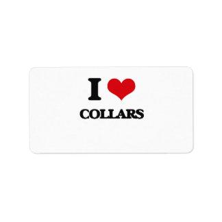 I love Collars Address Label