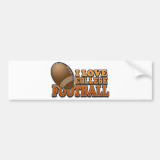 I Love College Football Bumper Sticker