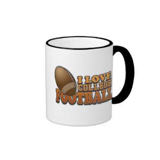 I Love College Football Ringer Mug