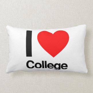 i love college lumbar cushion