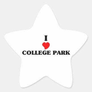 I love College Park Star Sticker