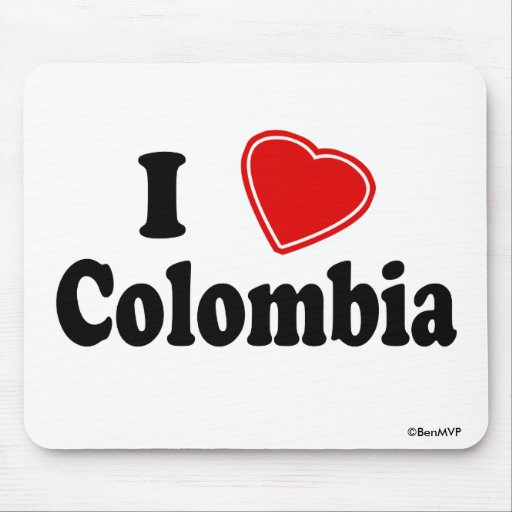 I Love Colombia Mousepads