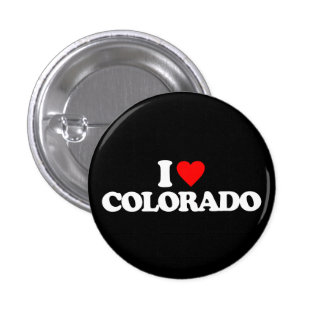 I LOVE COLORADO 3 CM ROUND BADGE