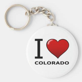 I LOVE COLORADO KEY RING