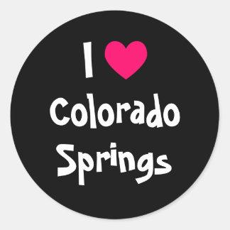 I Love Colorado Springs Classic Round Sticker