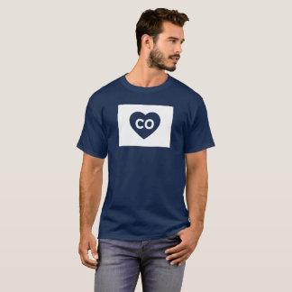 I Love Colorado State Men's Basic Dark T-Shirt