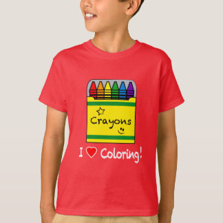 I Love Coloring with Crayons T-Shirt