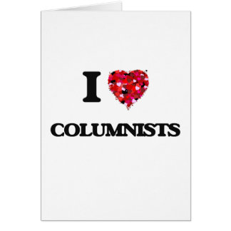 I love Columnists Card