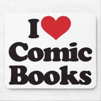 I Love Comic Books Mouse Pad