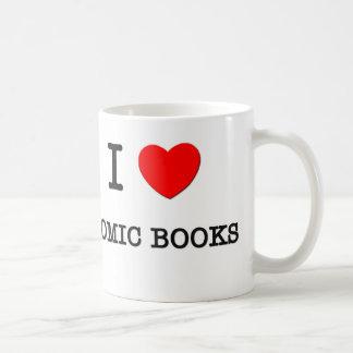 I LOVE COMIC BOOKS BASIC WHITE MUG