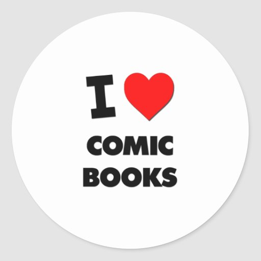 I Love Comic Books Sticker