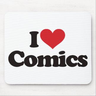 I Love Comics Mouse Mat