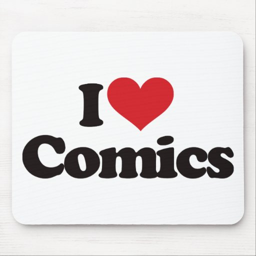 I Love Comics Mouse Mat
