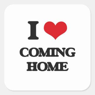 I love Coming Home Square Sticker