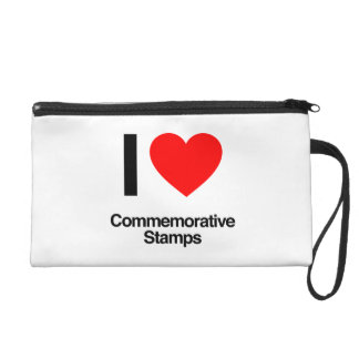 i love commemorative stamps wristlet clutches