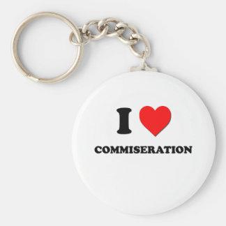 I love Commiseration Basic Round Button Key Ring