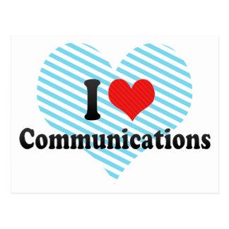I Love Communications Postcard