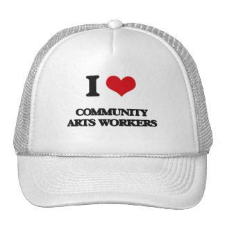 I love Community Arts Workers Trucker Hat