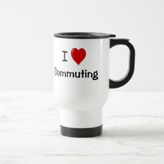 I Love Commuting Motivational Commuter Saying Coffee Mugs