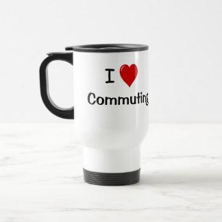 I Love Commuting Motivational Commuter Saying Stainless Steel Travel Mug