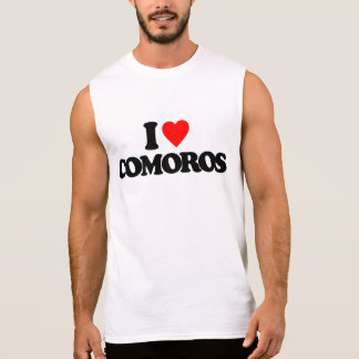 I LOVE COMOROS SLEEVELESS SHIRT