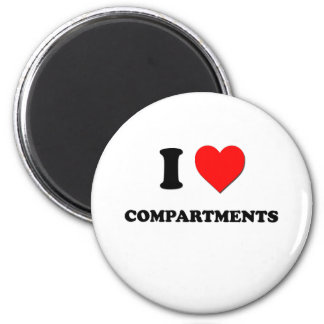 I love Compartments 6 Cm Round Magnet