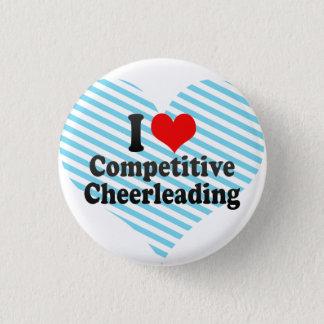 I love Competitive Cheerleading 3 Cm Round Badge