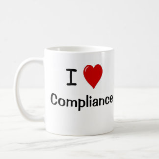 I Love Compliance and Compliance Heart Me Coffee Mug