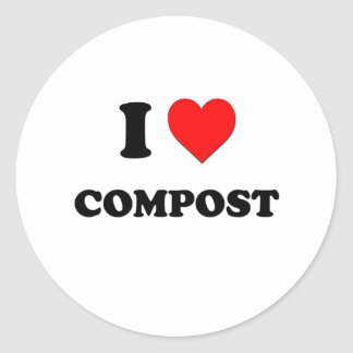 I love Compost Classic Round Sticker