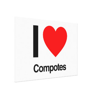 i love compotes gallery wrapped canvas