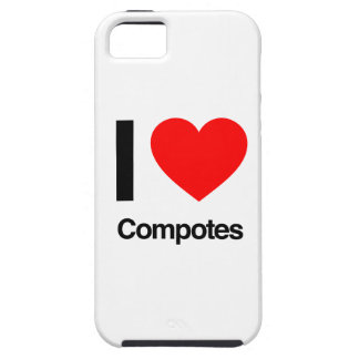 i love compotes tough iPhone 5 case