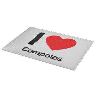 i love compotes cutting board