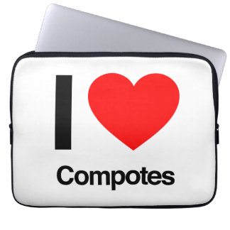 i love compotes computer sleeve
