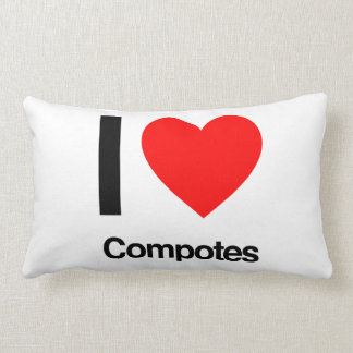 i love compotes throw pillow